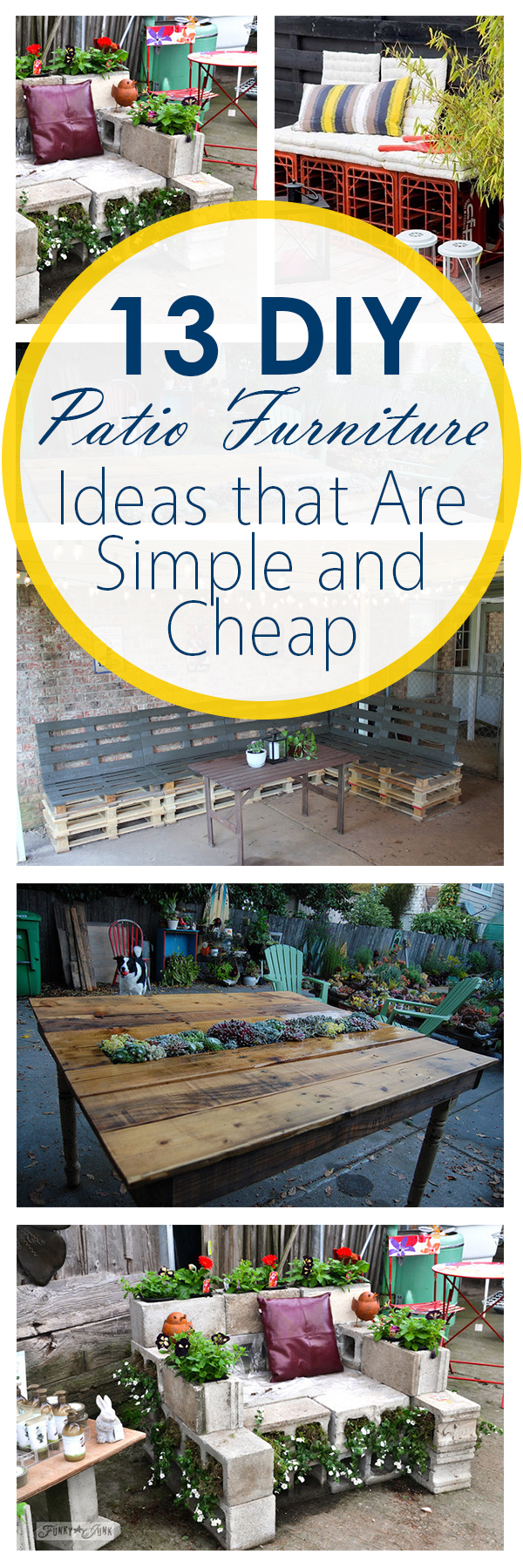 13 DIY Patio Furniture Ideas that Are Simple and Cheap ... on Economical Patio Ideas  id=59222