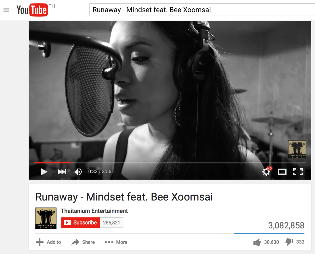 "Me as a featured singer on ""Runaway"" by Mindset"