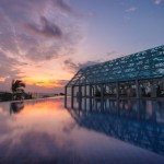 Le Meridien Bali Jimbaran. Modern and Luxury beachfront hotel pool villas and a rooftop infinity pool. Photo from http://travelwithbender.com/
