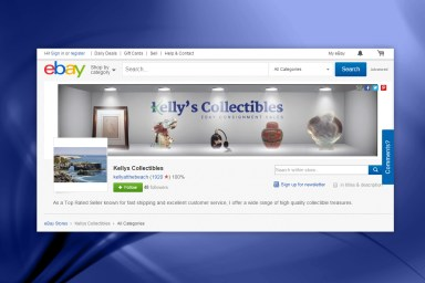 Kelly's Collectibles - Ebay Header Image