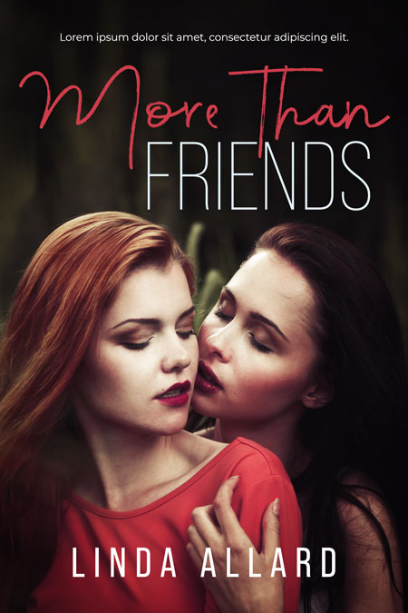 More Than Friends - Lesbian Romance Premade Book Cover For Sale @ Beetiful Book Covers