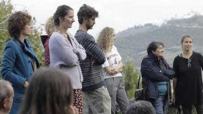Fatema Abdoolcarim's intervention at the cave of Santa Lucía