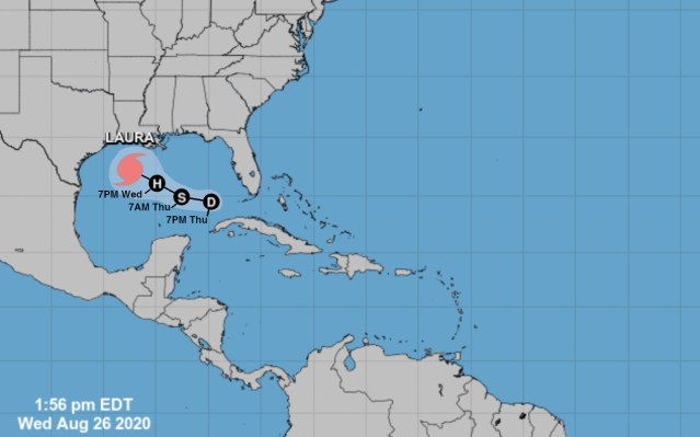 Hurricane Laura Postponed
