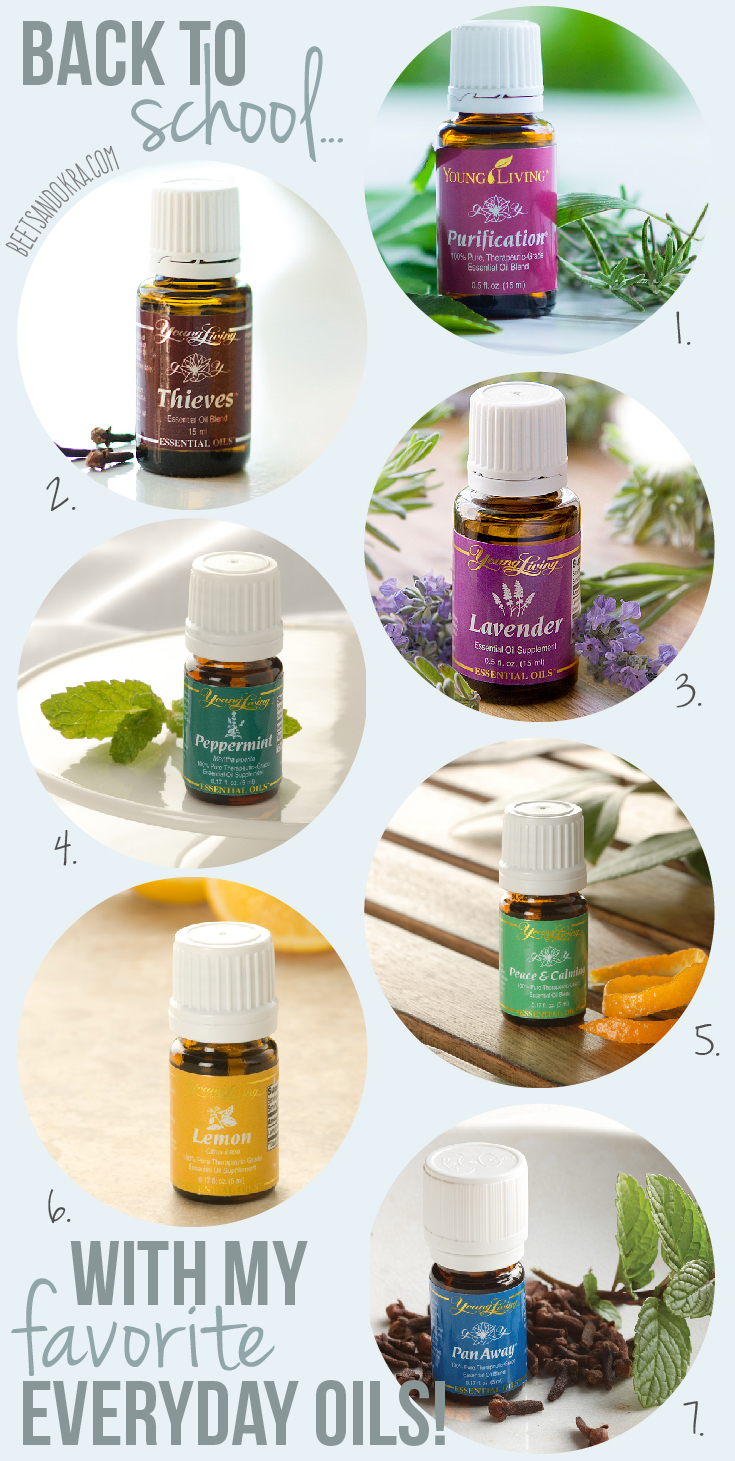 back to school with essential oils ---> beets + okra