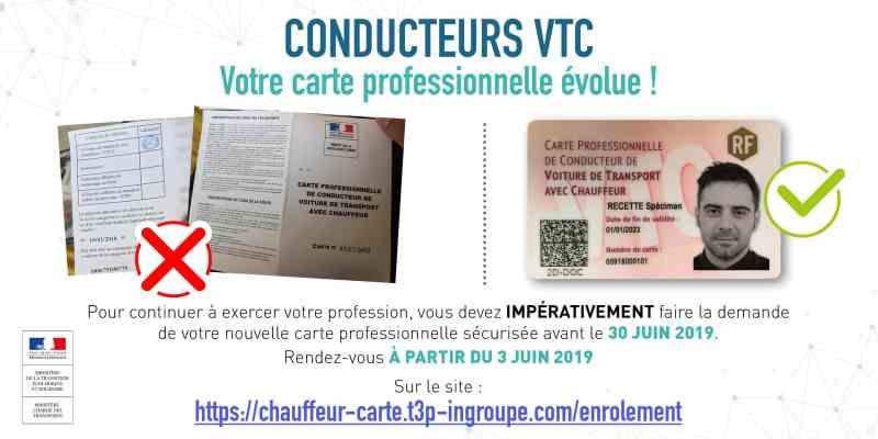 Véhicule électrique VTC : carte VTC