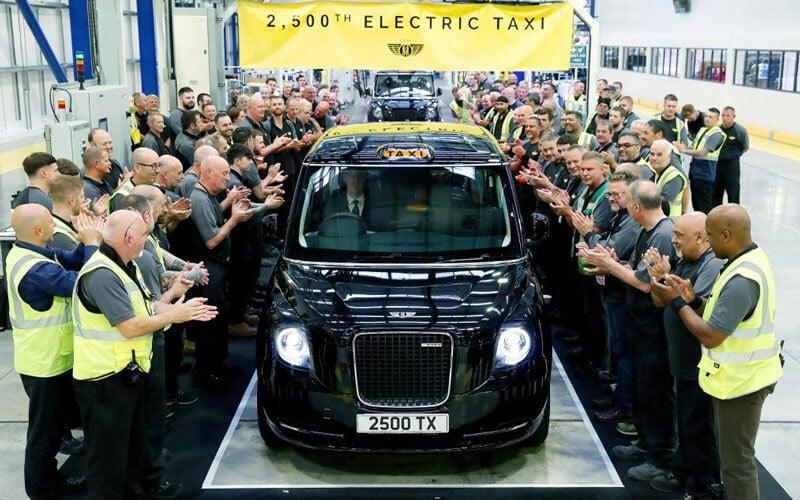 Taxi électrique à Londres