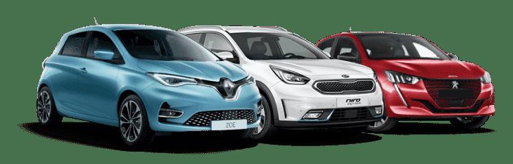 peogeut 208, kia-e-niro, Renault Zoe, Beev, voiture electrique