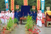 nearby villiage; villiagers were praying for good weather and good harbest_25:07:2015;Harvest Festival_PingKeng Villiage