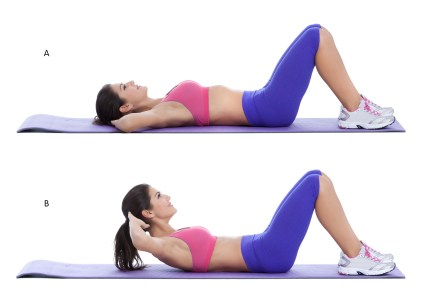Image result for Crunches exercise