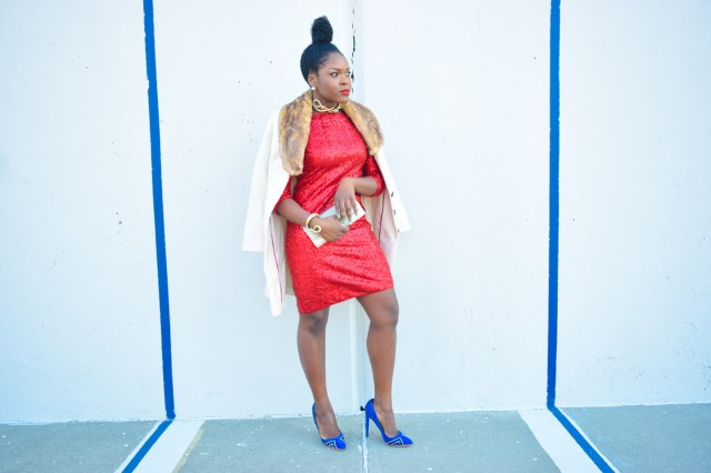 Befitting Style Red Sequins Dress NYFW Day 1 4