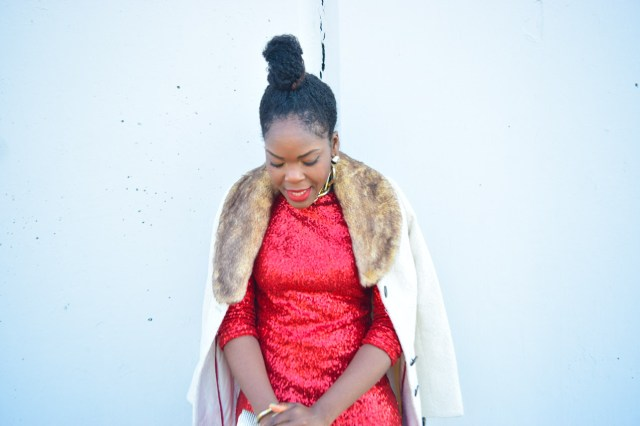 Befitting Style Red Sequins Dress NYFW Day 1 9