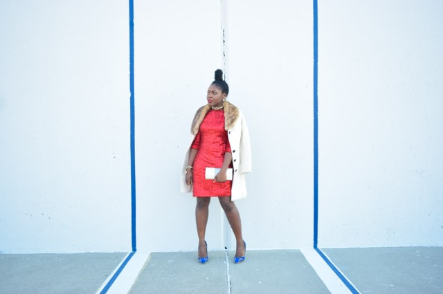 Befitting Style Red Sequins Dress NYFW Day 1