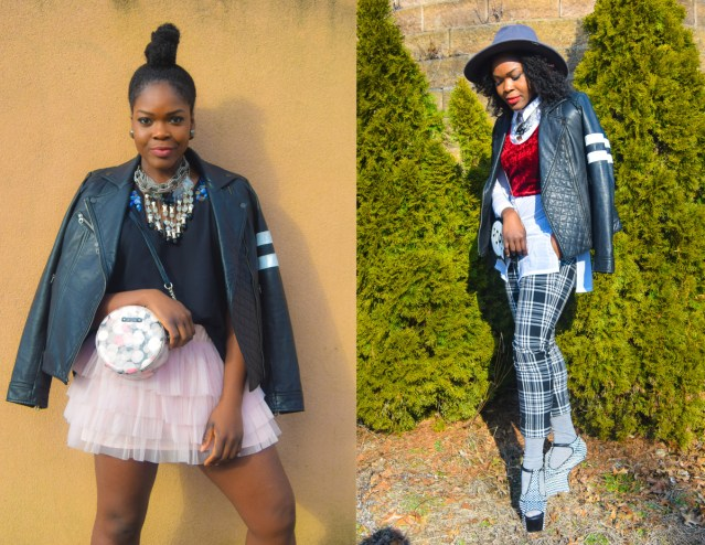 2 Ways To Wear A Leather Biker Jacket This Spring
