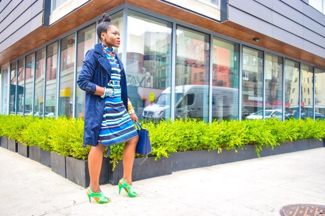 Befitting Style Oyinkan Wearing Trench Jacket and Shirtdress 10