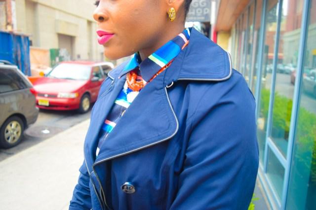 Befitting Style Oyinkan Wearing Trench Jacket and Shirtdress 17