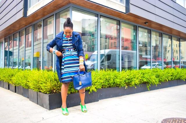 Befitting Style Oyinkan Wearing Trench Jacket and Shirtdress 9