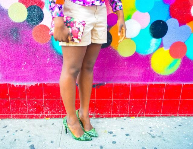 Befitting Style Oyinkan Wearing Brights Button Down w- khaki shorts 10