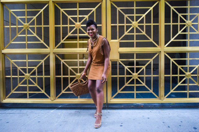 Befitting Style Oyinkan Wearing Brown In The Spring 18