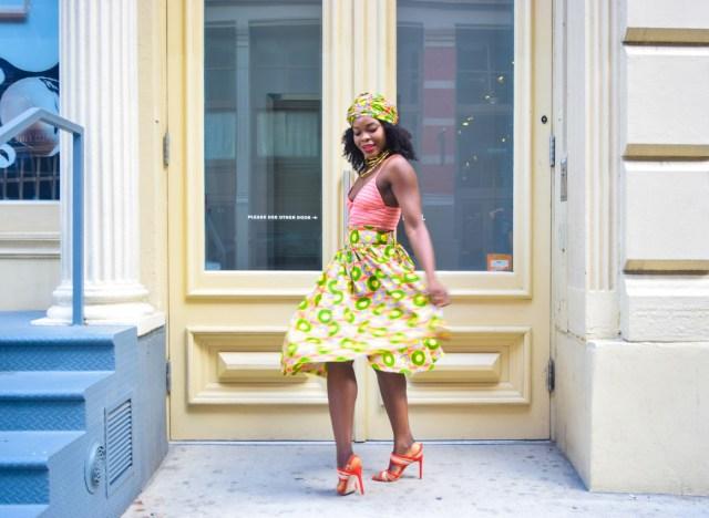 Befitting Style Oyinkan Wearing Ankara Print Skirt With Crop Top 7