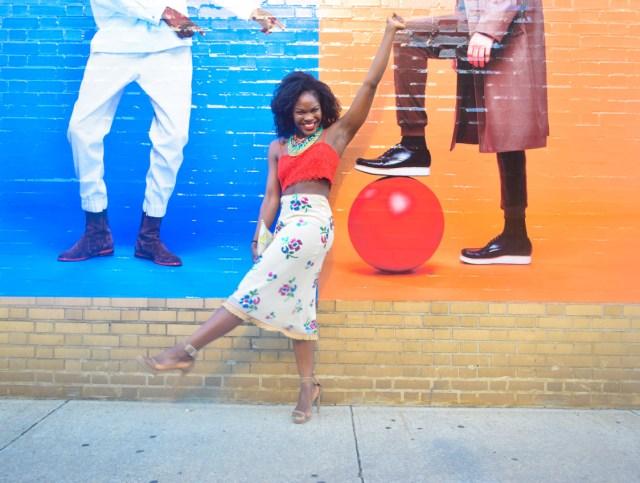 Befitting Style Oyinkan Wearing Sequin Applique Skirt w-Crop top 15
