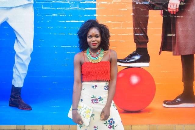 Befitting Style Oyinkan Wearing Sequin Applique Skirt w-Crop top 18