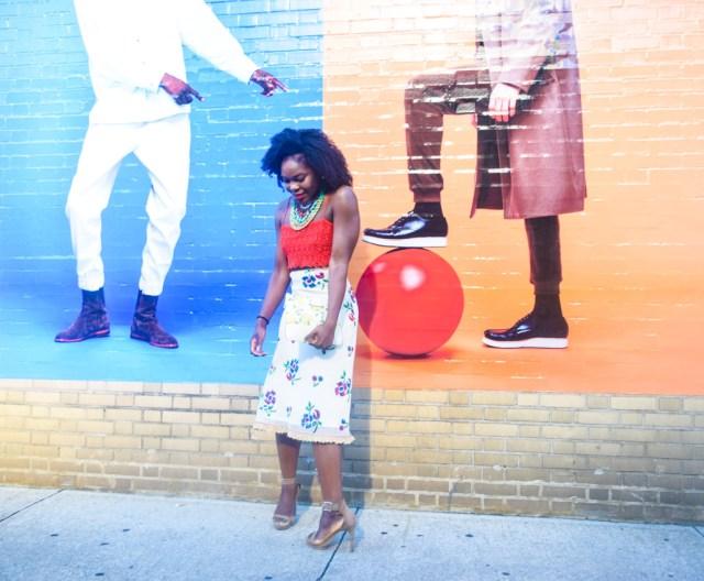 Befitting Style Oyinkan Wearing Sequin Applique Skirt w-Crop top 4