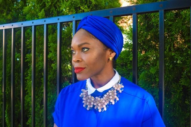 Befitting Style Oyinkan Wearing Turban + Shirtdress 16