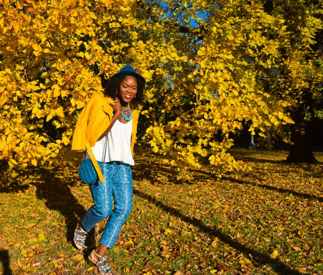 befitting-style-oyinkan-wearing-yellow-leather-jacket-blue-pants-6