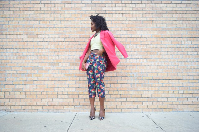 How I Style | Pink Blazer + Floral Pants