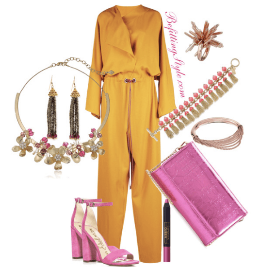 Color Block into Spring -Yellow Jumpsuit - Befitting Style