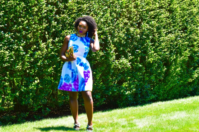 Befitting Style Multi Colored Frock   Brunch With FitBox