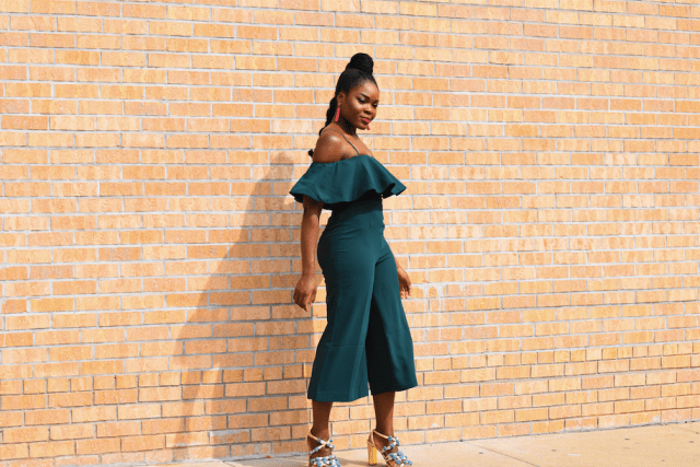 Befitting Style NYFW SS18 Day 7 Off The Shoulder Jumpsuit