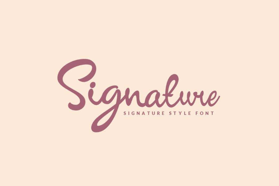 Download Signature Script Font - Befonts.com