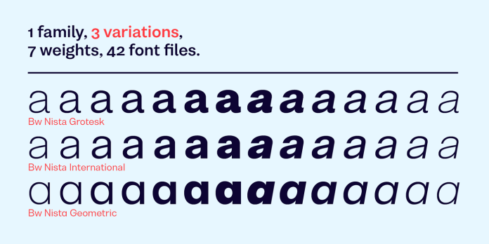 Bw Nista Font Family
