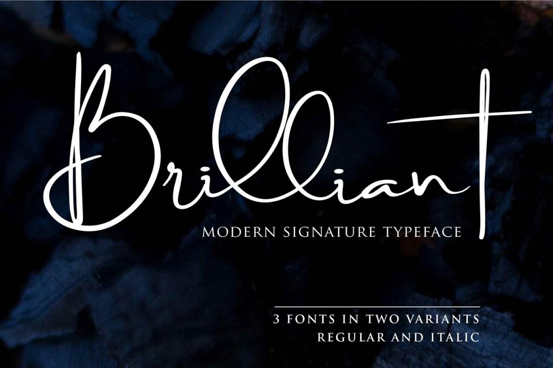 Download Brilliant Signature Font - Befonts.com