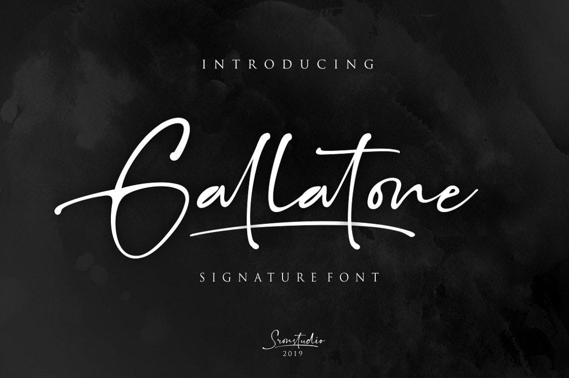 Download Gallatone Signature Font - Befonts.com