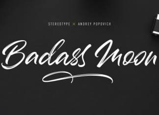 Badass Moon Brush Font