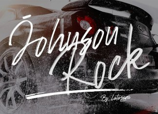 Johnson Rock Brush Font