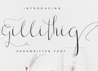 Gillithig Script Font