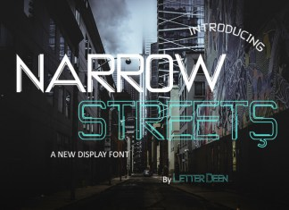 NARROW STREETS Display Font