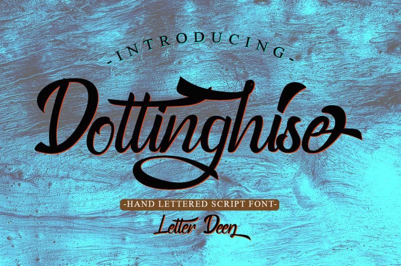 Dottinghise Script Font