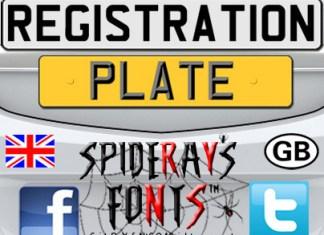 Registration Plate Uk Font