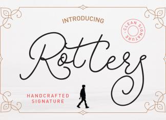 Rotters Signature Font