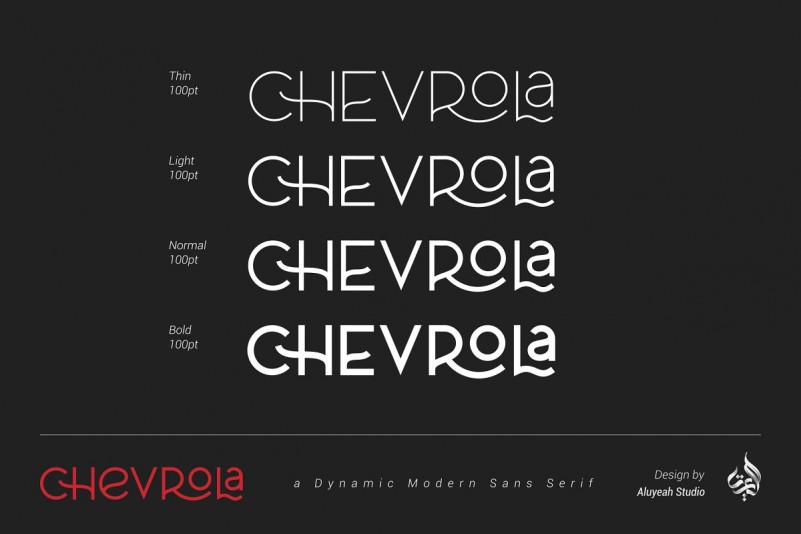 Al Chevrola Font