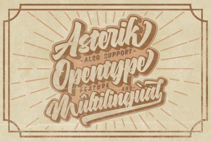 Asterik Script Font