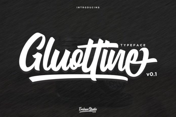 Gluottine Bold Script Font