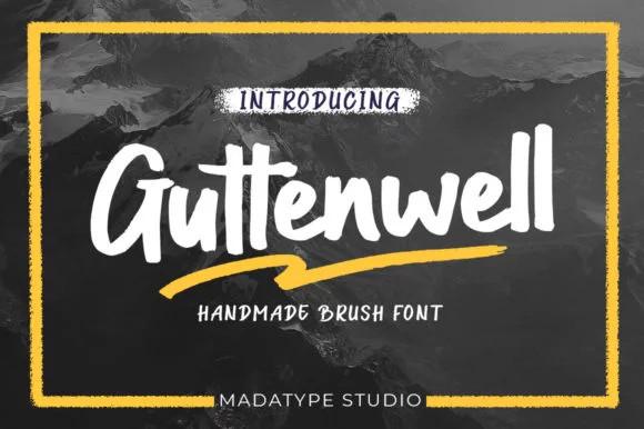 Guttenwell Bold Script Font