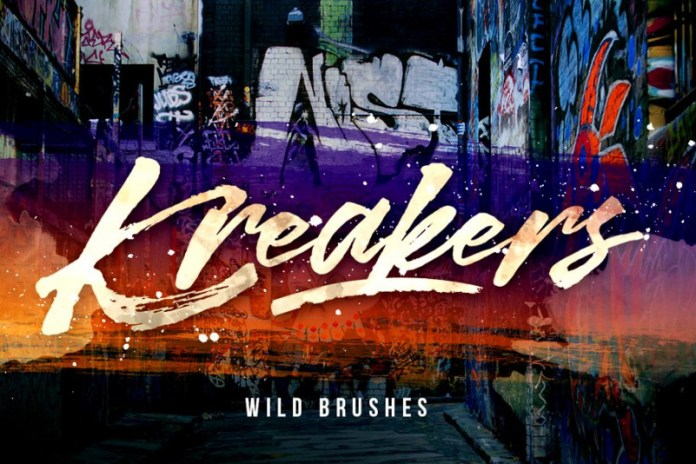 Kreakers Brush Font