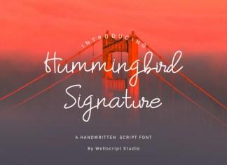 Hummingbird Handwritten Font