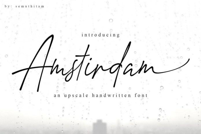 Amstirdam Handwritten Script Font